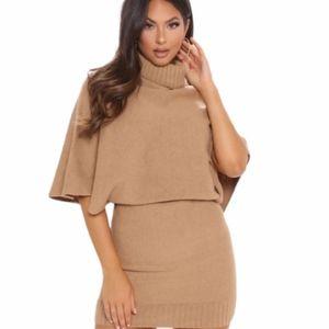 Fashion Nova Sitting Cozy Sweater Mini Dress